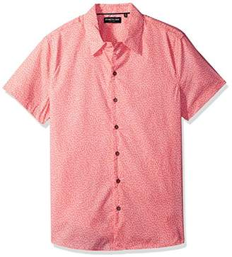 Kenneth Cole New York Men's Short Sleeve Printed Camp Shirt