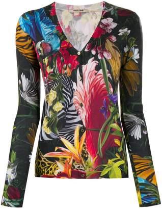 Roberto Cavalli Tropical print cardigan