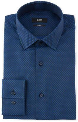 BOSS Men's Diamond Evening Dress Shirt