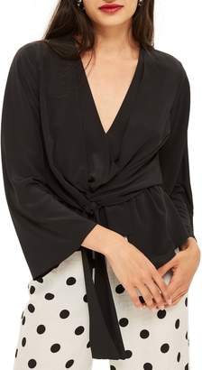 Topshop Tiffany Asymmetrical Blouse