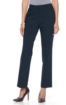 Dana Buchman Women's Slim Straight-Leg Pants