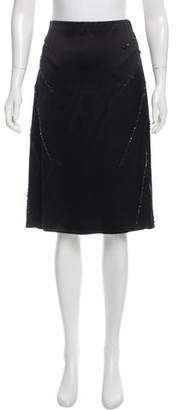 Marc Jacobs Silk Crystal-Embellished Skirt