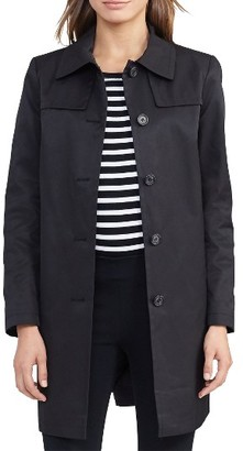 Women's Lauren Ralph Lauren Cotton Blend Trench Coat $160 thestylecure.com