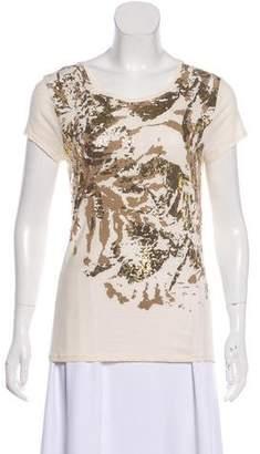 Tahari Short Sleeve Metallic T-shirt
