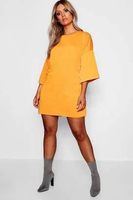 boohoo Plus Oversized Sweat Dress