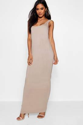 boohoo Square Neck Basic Jersey Maxi Dress