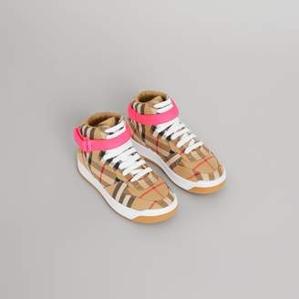 Burberry Childrens Vintage Check High-top Sneakers