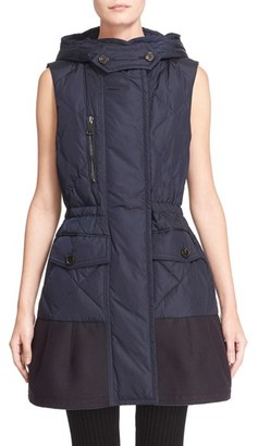 Women's Moncler 'Eles' Water Resistant Quilted Hooded Down Vest $1,165 thestylecure.com