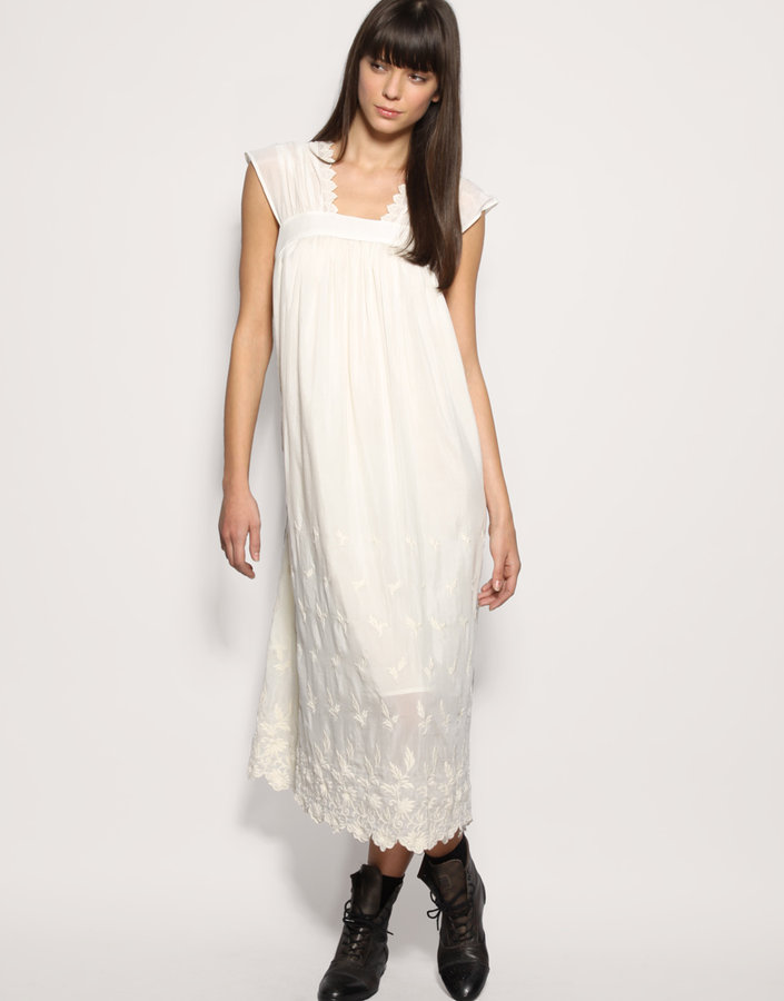TBA Vintage Style Embroidered Maxi Dress