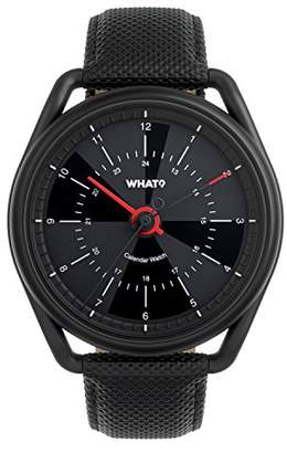 What What? Perpetual Calendar Watch: Hybrid Digital Analog Smart Watch Syncs with iPhone and Android – 2.7-oz Stainless Steel Body – 165-Ft Waterproof – up to 8-Week Battery Life - 1-Year Warranty
