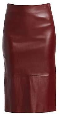 The Row Women's Jaston Leather Pencil Skirt