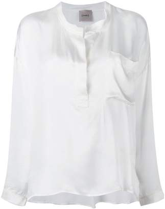 Nude henley blouse