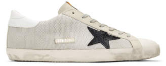 Golden Goose Grey and Off-White Cord Superstar Sneakers
