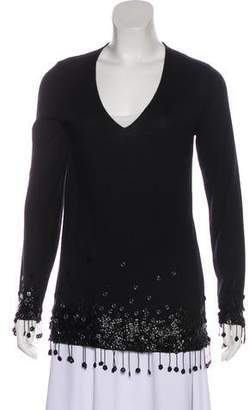 Chanel Camellia Cashmere Top