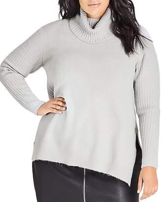 City Chic Plus Turtleneck Sweater