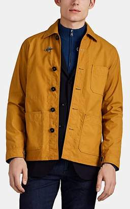 Fay Men's Waxed Cotton Canvas Work Jacket - Yellow