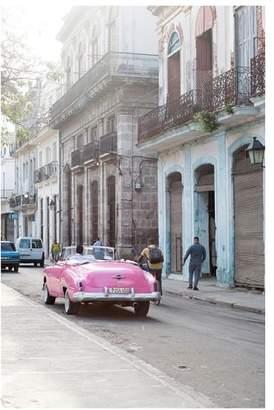 Pottery Barn Pink Car in Cuba By Rebecca Plotnick
