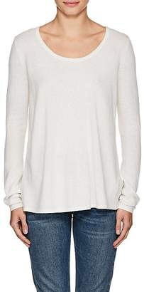 L'Agence WOMEN'S PRESTON KNIT & SILK SWEATER