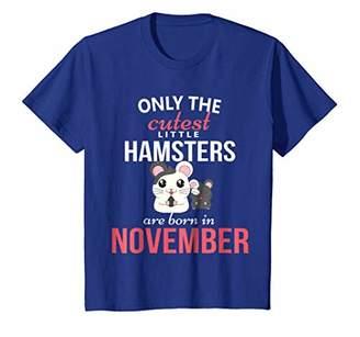 Hamster November Birthday Gift Shirt Boys Girls Party Theme