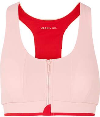 Vaara Cloe Two-tone Stretch-knit Sports Bra