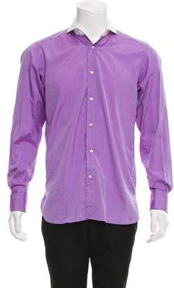 Ralph Lauren Purple Label Woven French Cuff Shirt