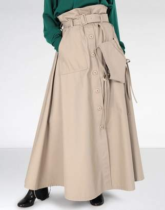 MM6 MAISON MARGIELA (エムエム6 メゾン マルジェラ) - MM6 MAISON MARGIELA tie knot pocket maxi skirt