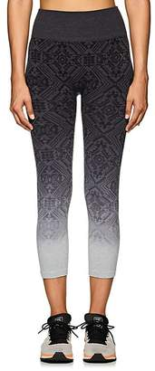 Electric Yoga WOMEN'S GEOMETRIC-PATTERN JACQUARD CAPRI LEGGINGS