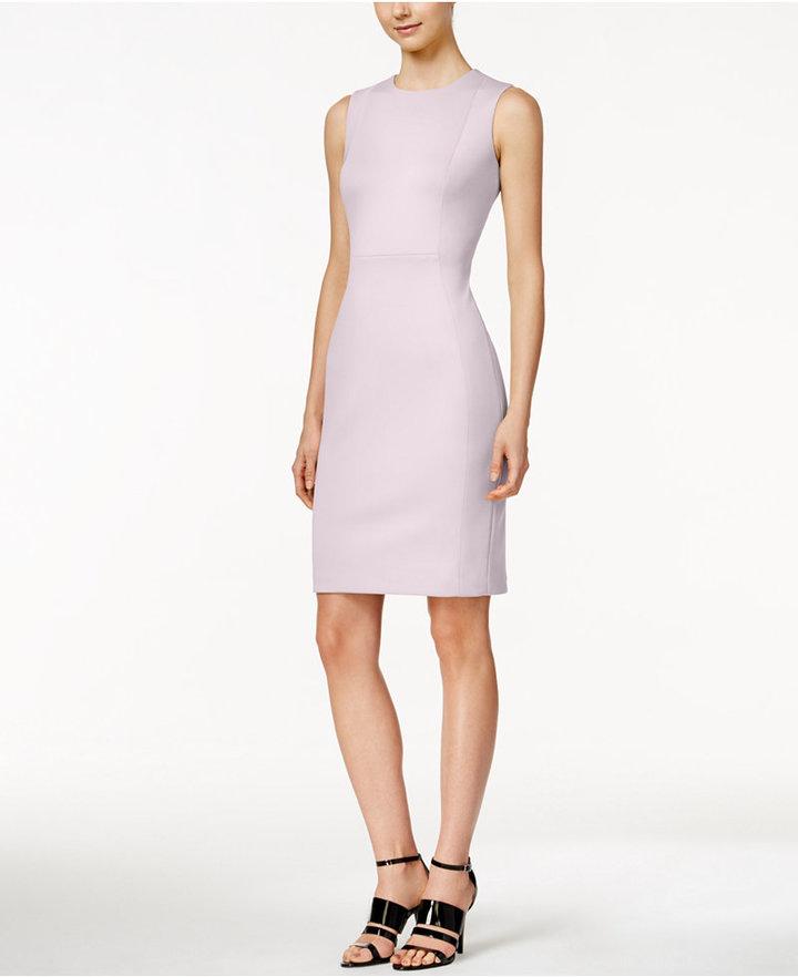Calvin Klein Scuba Crepe Sheath Dress 2
