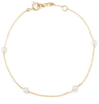 Mizuki 14k Four Akoya Pearl Bracelet
