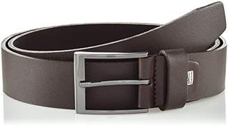 LINDENMANN Mens leather belt/Mens belt, business belt, full grain leather belt, darkFarbe/Color:, Größe/Size: