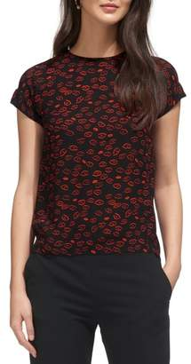 Whistles Lips Print Top