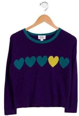 Autumn Cashmere Girls' Heart Wool Sweater