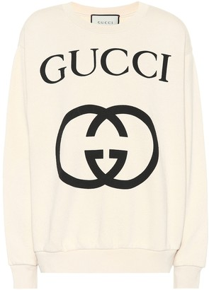 Gucci Printed cotton sweater