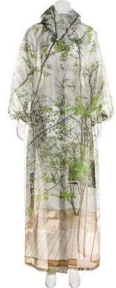 Akris Printed Silk Coat