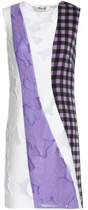 Diane von Furstenberg Gingham Silk-Blend And Fil Coupé Voile Mini Dress