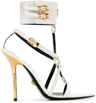 Versace medusa pointed toe sandals