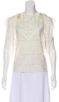 Isabel Marant Silk Embroidered Blouse