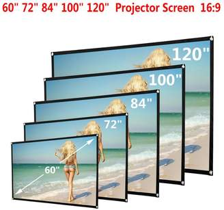 Goodtrade8® Clearance Sale! 72 inch Portable Folding Projector Screen 16:9 Home Cinema Theater Projection Screen with Hooks