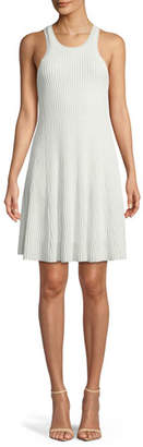 Theory Clean Cotton Ottoman Knit Knee-Length Tank Dress
