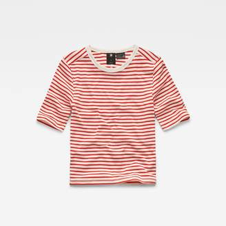 G Star Raw Correct Silber Cropped T-Shirt