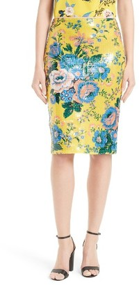 Women's Diane Von Furstenberg Floral Pencil Skirt $298 thestylecure.com