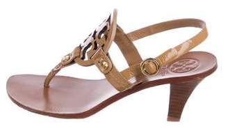Tory Burch Patent Leather Ankle-Strap Sandals