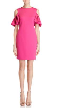 Ted Baker Bright Pink Cold Shoulder Sheath Dress