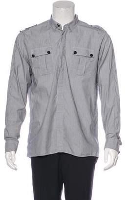 Balmain Striped Military Shirt