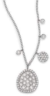 Meira T Diamond& 14K White Gold Ice Disc Necklace