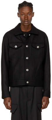 Versus Black Wool Lion Head Jacket
