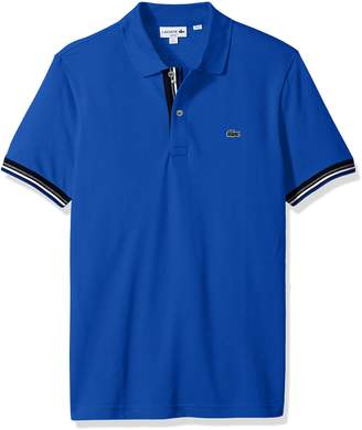 Lacoste Men's Short Sleeve Semi Fancy 2 Ply Pique Polo-Slim Fit