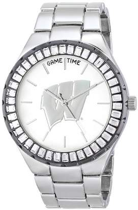 Game Time Women's 'Winner Baguette Stone Bezel' Quartz Metal and Alloy Casual Watch