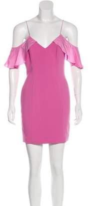 Jay Godfrey Cold-Shoulder Mini Dress w/ Tags