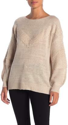 Coco + Jaimeson V-Stitch Crew Neck Sweater